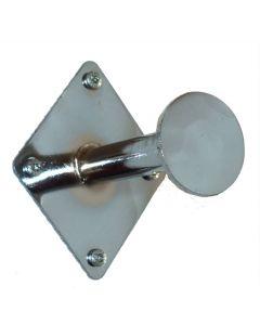Spyd til væg montering i flot metal krom - Perfekt som frahæng i prøverum