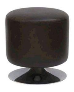 Puf-skammel i flot design af sort kunst læder - Velegnet til prøverum og butik