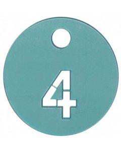 Nummer brik 4 på antal tøj kunder prøver - Perfekt til prøverum