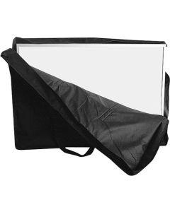 Task til messedisken 'Curved' - I sort med praktisk bære håndtag