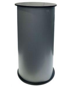 Messedisk med smart design og detaljer - Sort og hvid top og bundplade
