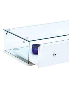 Glasmontre med udtræksskuffe - Perfekt til bord og disk