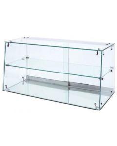 Flot glasskab der skråner - Perfekt til butiksdisk og salgsbord