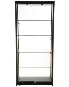 Glasskabet er med i alt 8 led lys spot der giver en god belysning i skabet