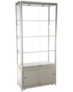 Præsentabel glasmontre til udstilling i butik og showroom - Køb online