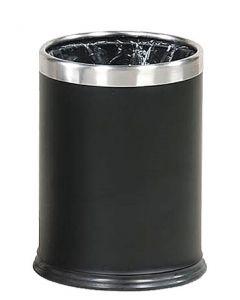 Affalds-spand i flot sort stål - Anbefales til indendørs brug