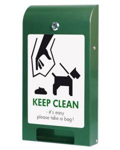 Holder til hundeposer for hundeafføring i buet design