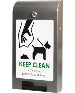 Dispenser til hundeposer i flot buet design - Køb hundeposeholder og hundeposer her til gode priser