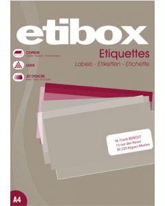 Printer-etiketter med klæbe klar til brug - Passer i enhver printer