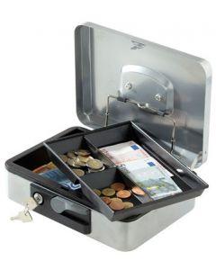 Pengekasse med automatisk åbning, nøglelås og pengebakke