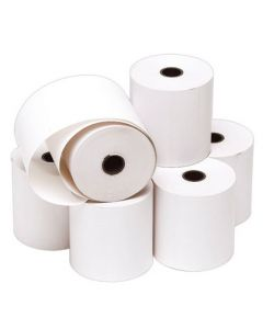 Papir-ruller til betalings-apparat og kasse - Pakket med 10 stk.
