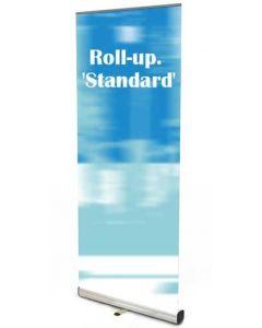 Billig Roll-up banner system, velegnet til markedsføring på messer, events og lignende