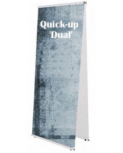 Markedsføring på dobbeltsidet banner med Quick-up