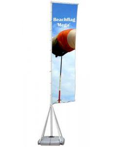 Mega udendørs beachflag for synlig markedsføring og høj vindstabilitet