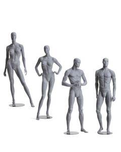 Mannequin sæt med 2 damer og 2 herrer - Super kvalitet og flot design