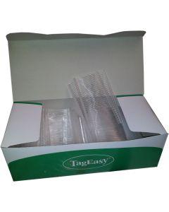 Boks med pins til fin tekstilpistol i hvid - Nemt og enkelt produktmærkning