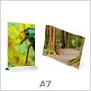 A7 skilte i vertikal eller horisontal format
