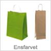 Ensfarvet papirsposer der kan bruges i enhver handel