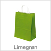 Flot limegrøn papirspose - Salg af bæreposer