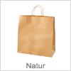 Natur farvet papirsposer - Poser med hank