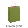 Flot papirspose i oliven grøn farve - Køb billige papirsposer online