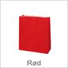 Papirsposer i rød farve - Til gode priser