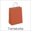 Ler farvet papirsposer med bære hank - Bestil terrakotta poser