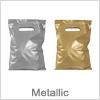 Plast bæreposer i metallic kvalitet