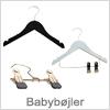 Bøjler til babytøj og små størrelser