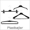 Bøjler af plastik til alle typer tekstiler