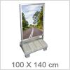 Store gadeskilte til plakatvisning på 100 X 140 cm