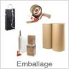 Emballage - bæreposer, papirruller, bobleplast etc
