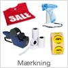 Mærkning - prismærkning, tekstilmærkning etx