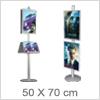 Flot plakatholder på stander - Til 50x70cm plakater