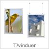 Smarte klap rammer til vinduer / glasfacader