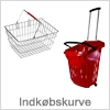 Indkøbskurve af plast og metal