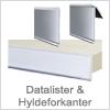 Datalister og hyldeforkanter i plast - køb her