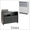 Et udvalg af diske til brug i butik og showroom