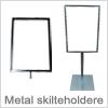 Smarte skilterammer til metal
