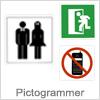 Pictogrammer til korrekt skiltning