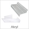 Akryl hylder til montering på Slatwall Panel