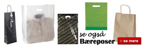 Køb bæreposer, plastikposer og papirsposer billigt online