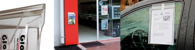Køb brochureholder udendørs online til billig pris