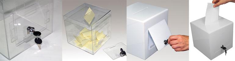 Akryldisplays, konkurrence box - Køb online