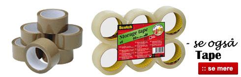 Online salg af tape og pakketape billigt