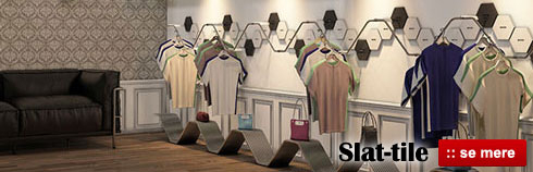 Flot og moderne butiksmiljø med Slat-tile