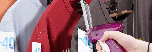 Smart tekstilmærkning med pistol og mærkater