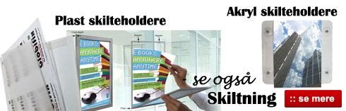 Skilteholder til vinduer - Smart skilte løsninger