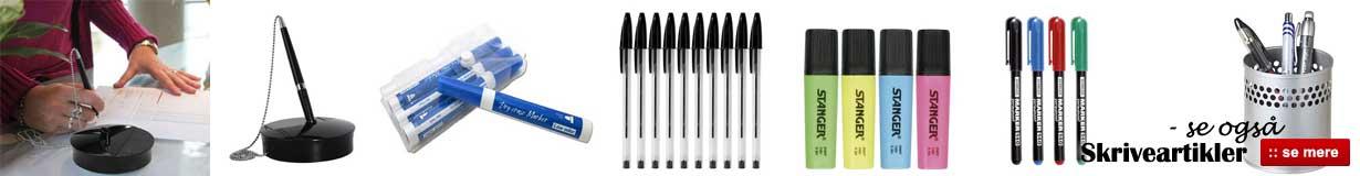 Billige priser på skriveartikler, kuglepenne mm - Online salg