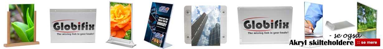 Køb akrylskilte og akryl skilteholder billigt online her